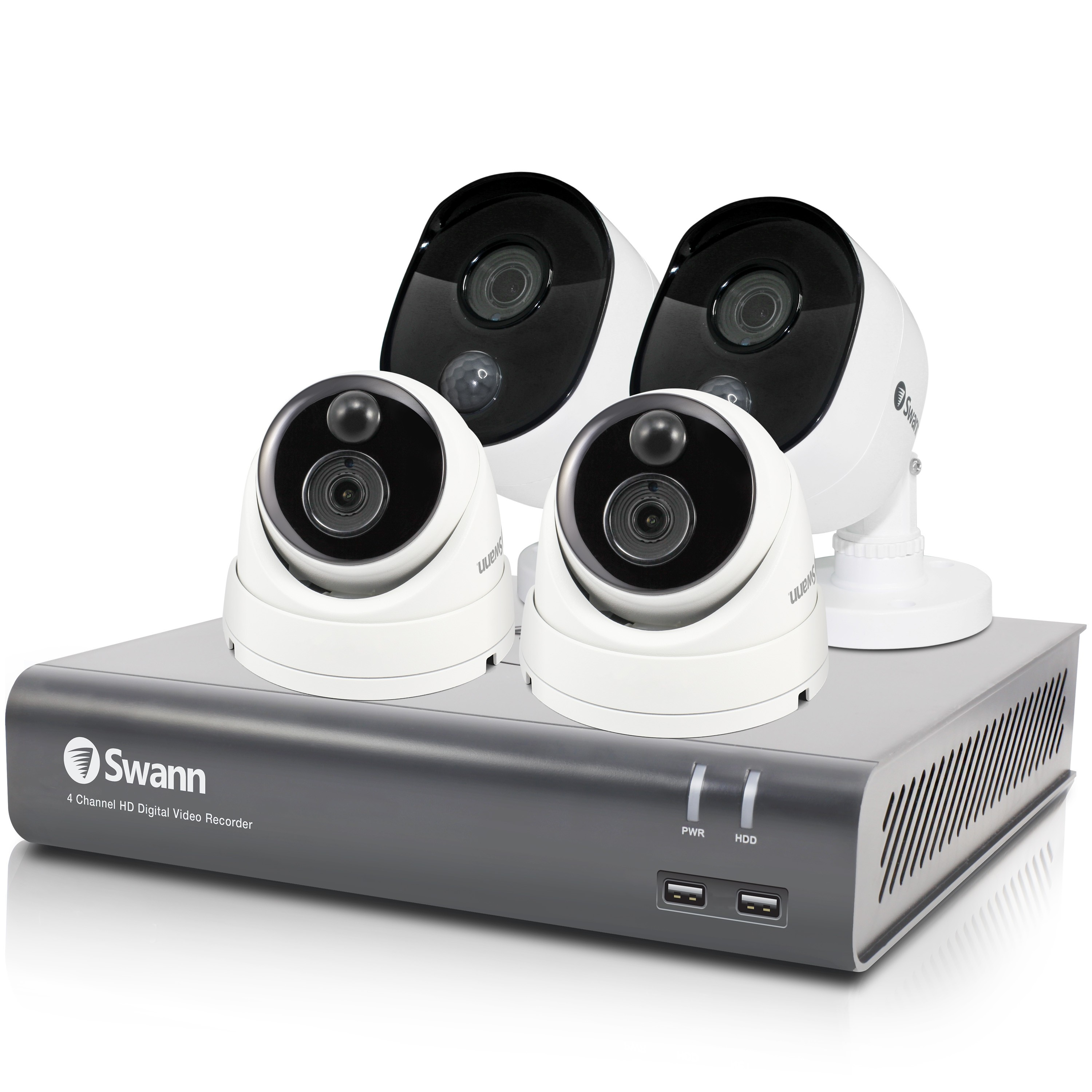 SWDVK-445802B2DV Swann 4 Channel Security System: 1080p Full HD DVR-4580 with 1TB HDD & 4 x 1080p Thermal Sensing Cameras -