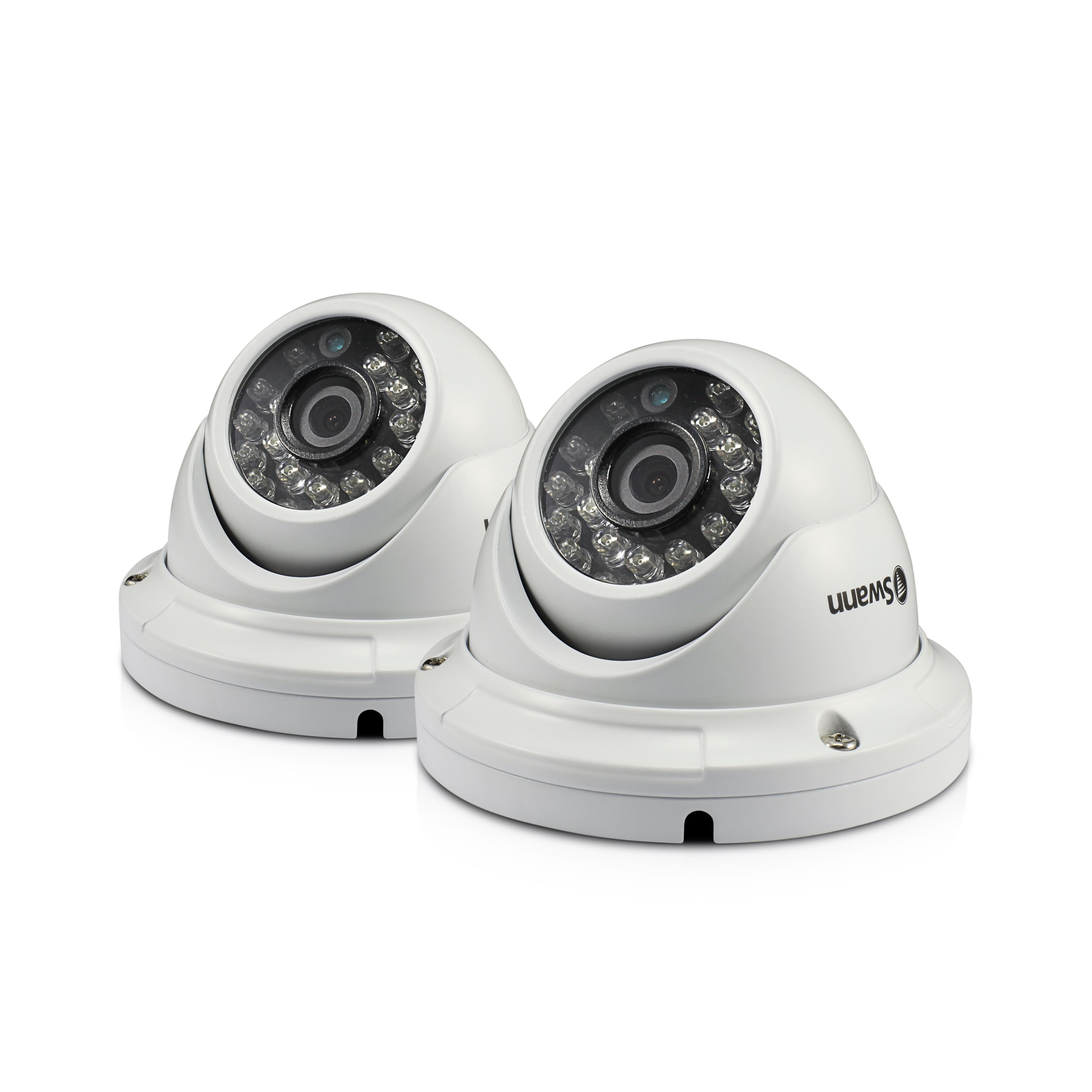 SWPRO-H856PK2 Swann Outdoor Security Cameras 2 Pack: 1080p Full HD Dome with IR Night Vision - PRO-H856 -