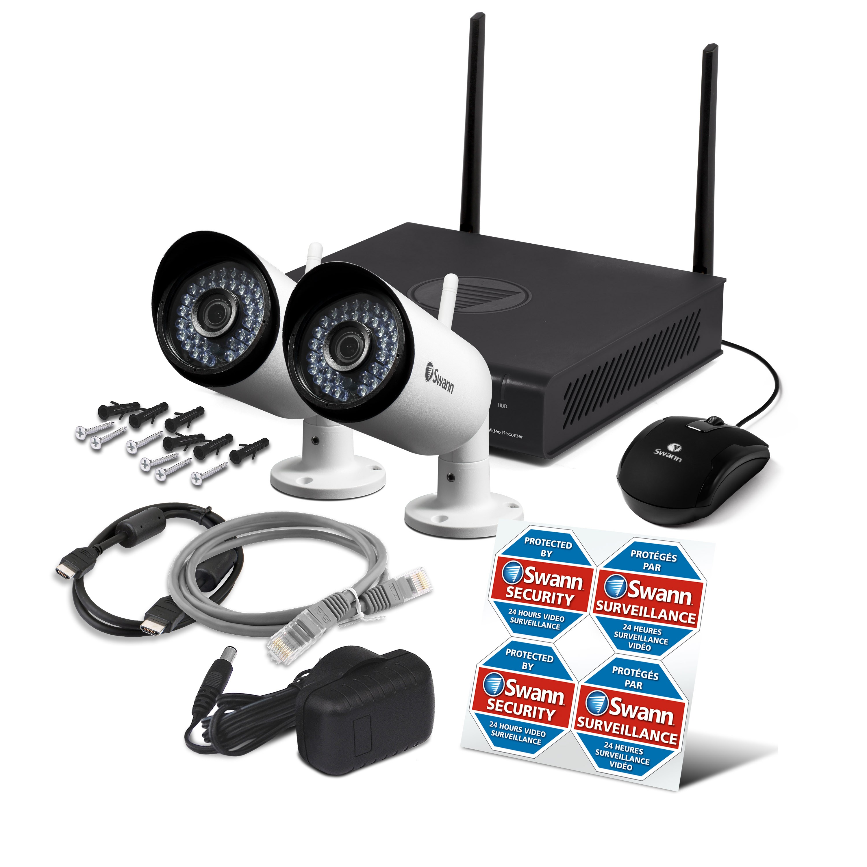 Nvw 485 Wi Fi Hd Security System Monitoring With 2 X Wireless Schematic 1080p Day Night Uk