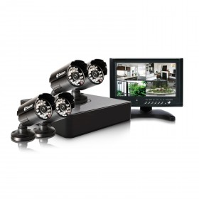 "DVR4-1525 4 Channel 960H Digital Video Recorder with 4 x PRO-615 Cameras & 7"" LCD Monitor"