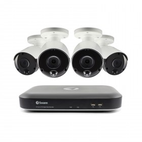 4 Camera 8 Channel 3MP Super HD DVR Security System 2TB HDD, Heat & Motion Sensing + Night Vision