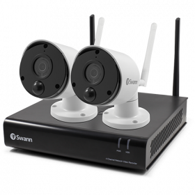 2 Camera 4 Channel 1080p Wi-Fi NVR Security System