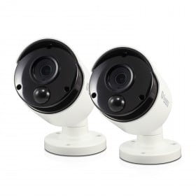 Swann Thermal Sensing PIR Security Cameras, 2 Pack: 5MP Super HD Bullets with IR Night Vision - PRO-5MPMSBPK2