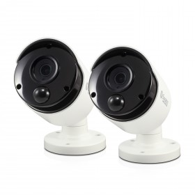 Swann Thermal Sensing PIR Security Cameras 2 Pack: 3MP Super HD Bullets with IR Night Vision - PRO-3MPMSBPK2