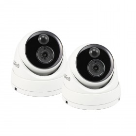 Swann Thermal Sensing PIR Security Camera, 2 Pack: 5MP Super HD Domes with IR Night Vision - PRO-5MPMSDPK2