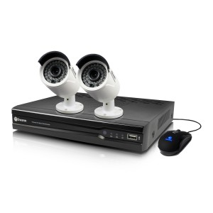 SWNVK-474002 NVR4-7400 4 Channel 4MP Network Video Recorder & 2 x NHD-818 4MP Cameras -