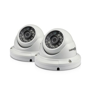 Swann Outdoor Security Cameras 2 Pack: 1080p Full HD Dome with IR Night Vision - PRO-H856