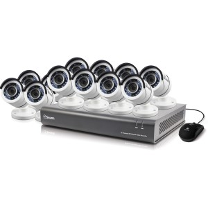 SODVK-164512 DVR16-4550 16 Channel 1080p Digital Video Recorder with 12 x PRO-T853 Cameras -