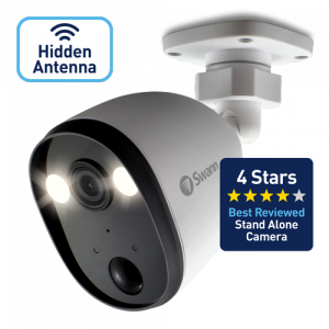 SWIFI-SPOTCAM Powered Wi-Fi Spotlight Security Camera with Sensor Lighting – No DVR required -