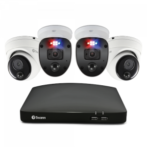 SWDVK-446802SL2D-EU Enforcer™ 4 Camera 4 Channel 1080P Full HD DVR Security System -