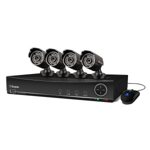 DVR8-4100 8 channel dvr camera system and 4 x pro-735 security cameras view 1