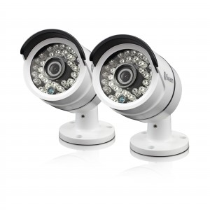 SWPRO-H855PK2 Swann Outdoor Security Cameras 2 Pack: 1080p Full HD Bullet with IR Night Vision - PRO-H855 -