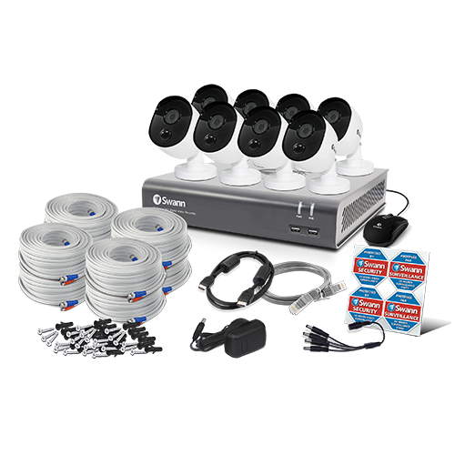 SWDVK-845808V 8 Camera 8 Channel 1080p Full HD DVR Security System   -