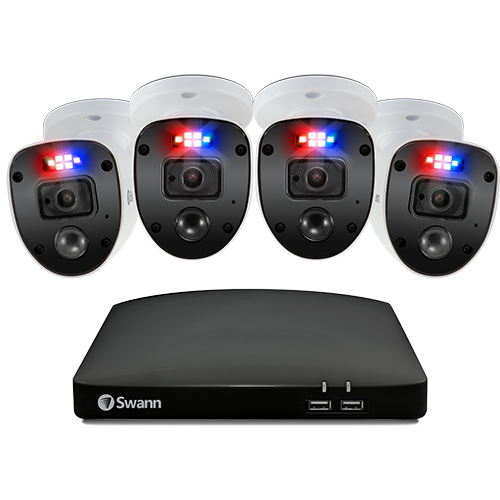SWDVK-84680SD4SL Enforcer 4 Camera 8 Channel 1080p Full HD DVR Security System with 32GB SD Card -