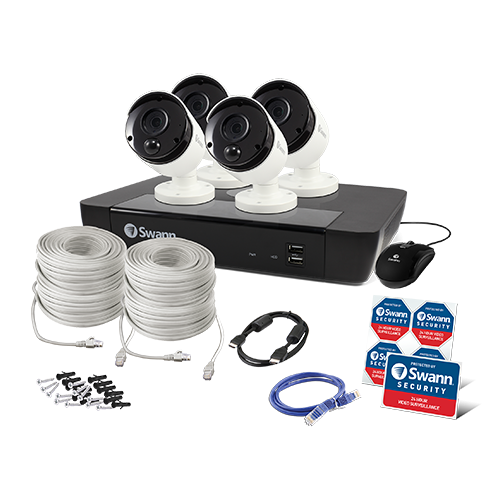 SWNVK-875804 4 Camera 8 Channel 5MP Super HD NVR Security System   -