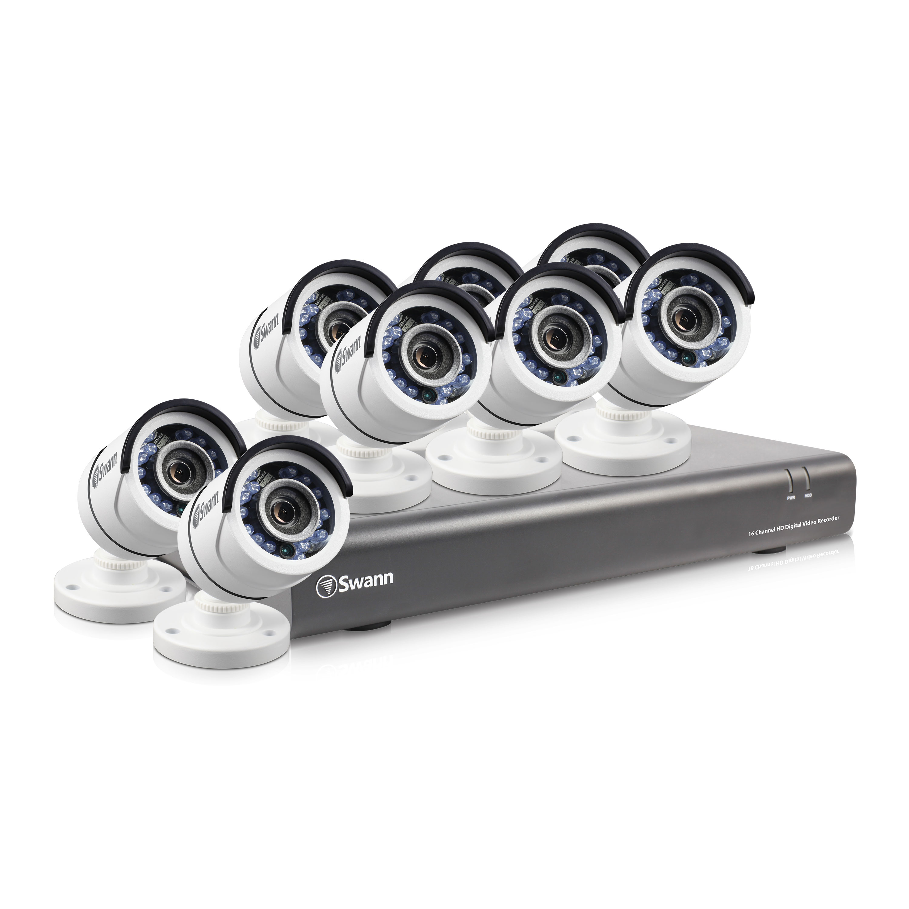 Dvr16 4550 16 Channel 1080p Digital Video Recorder With 8