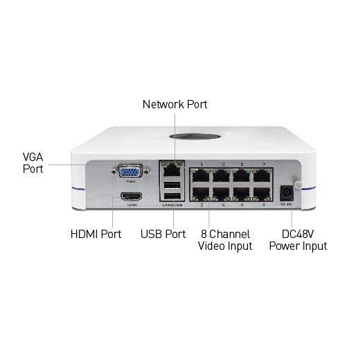Nvr8 7285 4 Channel 1080p Network Video Recorder Uk