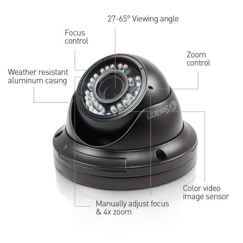 Pro A851v 720p Vari Focal Day Night Security Dome Camera