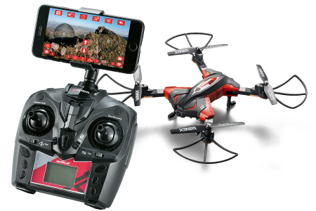 Xtreem Rc Drone With Camera 720p Hd Wi Fi Video Camera Hover Mode Folding Propeller Australia